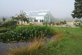 Two Willows Farm & Vineyard Greenhouse & pond