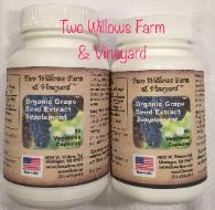 Organic Grape Seed Extract in 60 & 90 Capsule Bottles